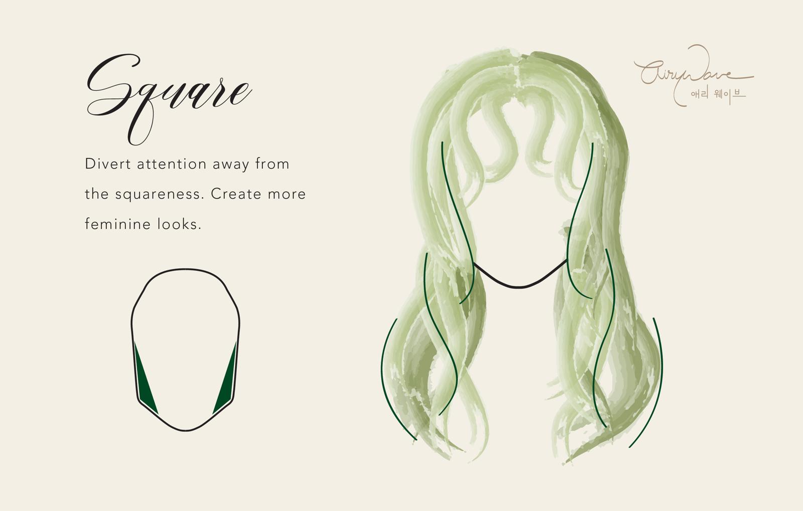 Perm Style For Square Face