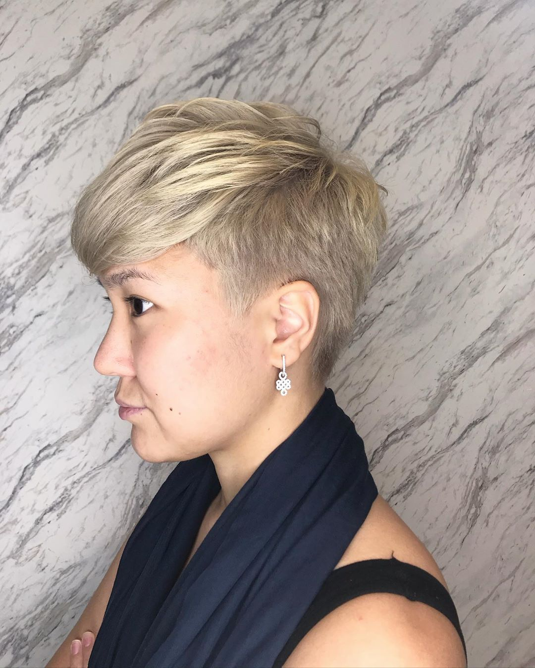 Short Pixie Blonde Colour and Cut (Kelvin) by The Urban Aesthetics