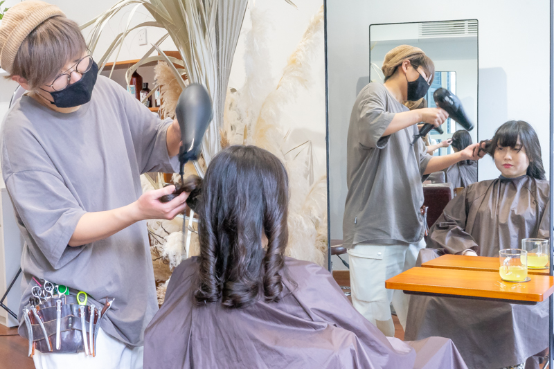 Blow Dry and Styling at Room Japanese Salon