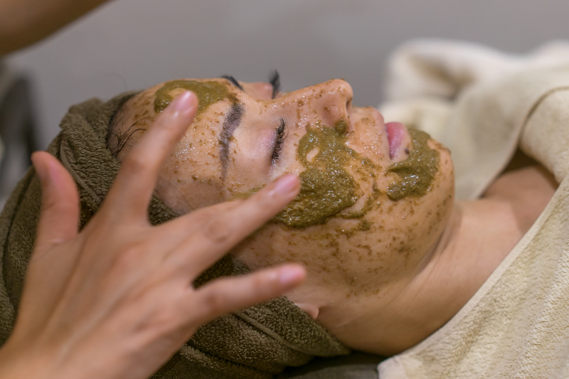 Layers of Exfoliating and Soothing Herbal Masks at Organics Beauty