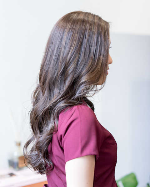 Low Damage Butter Brown at Room Japanese Hair Salon