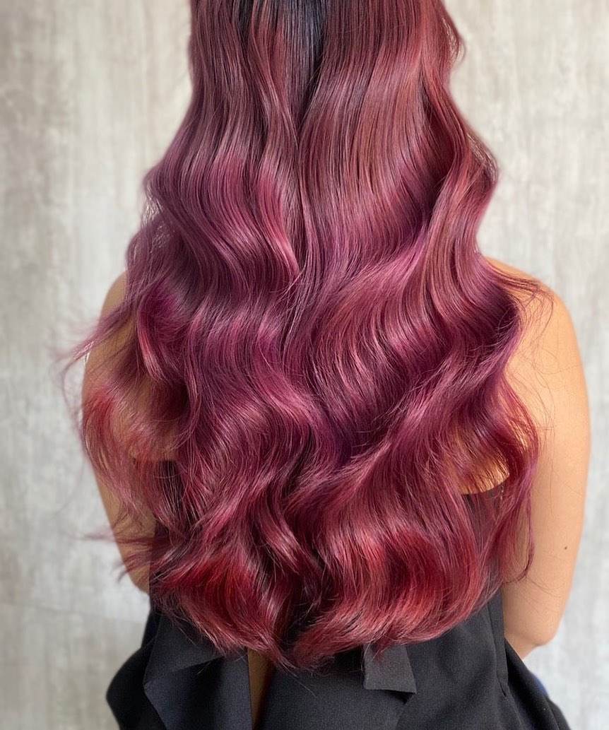 Red Hair Colour and Perm by Eri Su