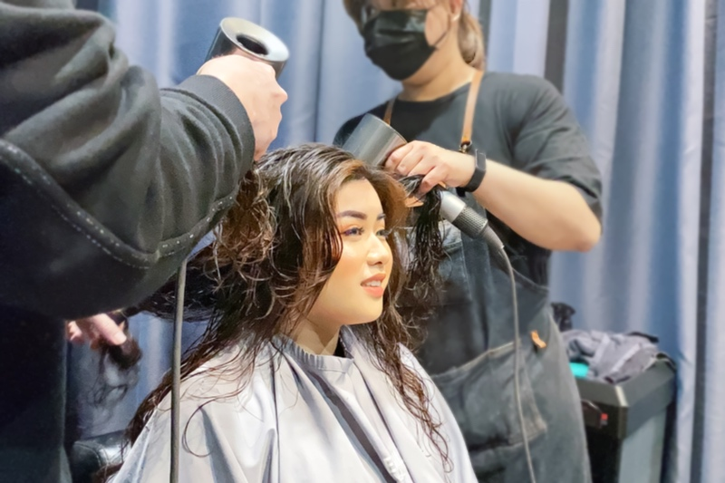 Hair Wash and Styling at Chez Vous