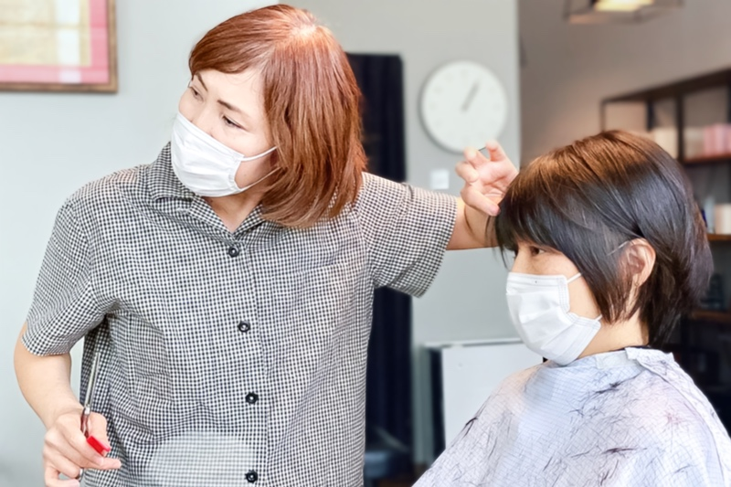 Blow Drying and Styling After Haircut at Izumi Salon