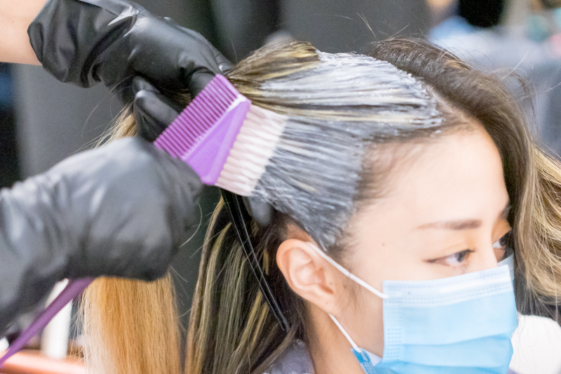 Getting Blue Ombre at Be Salon