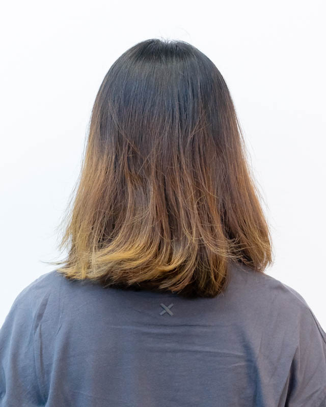 My Hair Before Getting a Perm at Act Point Salon