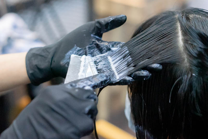 Application of Advante Perm Lotion at Act Point Salon