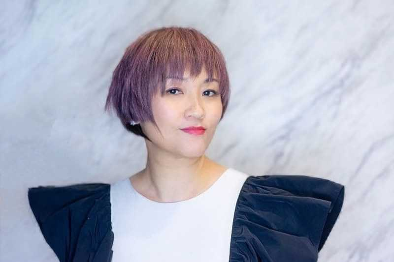 Short Pixie Cut with Pink Ash Hair Colour at The Urban Aesthetics