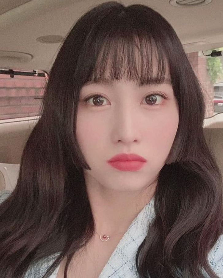TWICE Momo Hime Cut with See Through Bangs