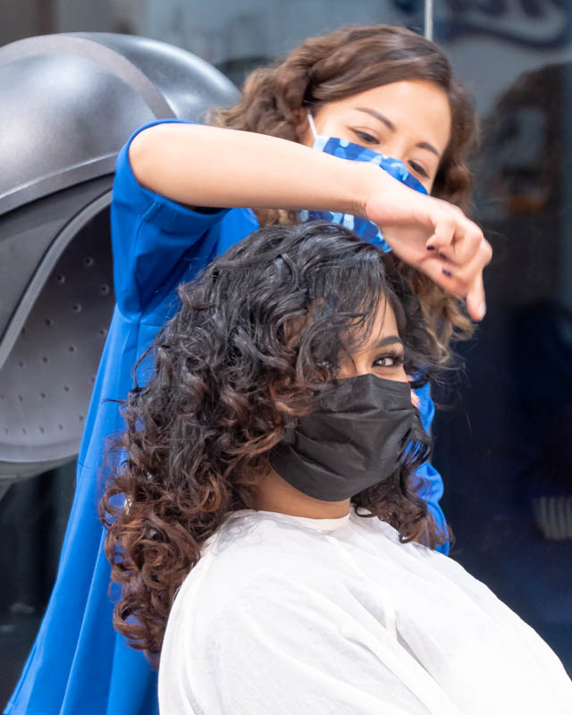 Blow Dry and Styling For Curly Hair at Ann's Studio