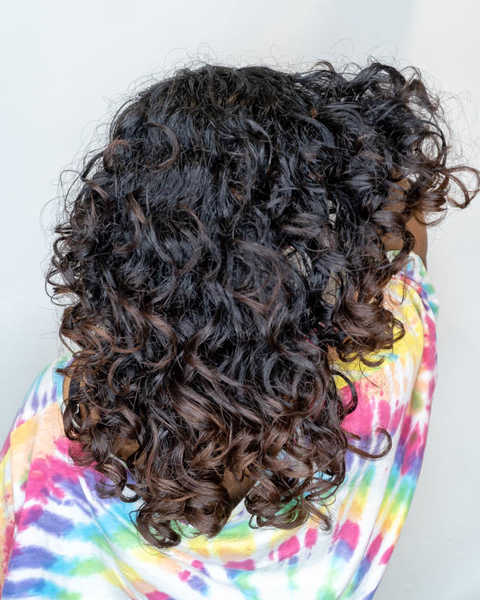 Gorgeous Curly Hair After Haircut at Ann's Studio
