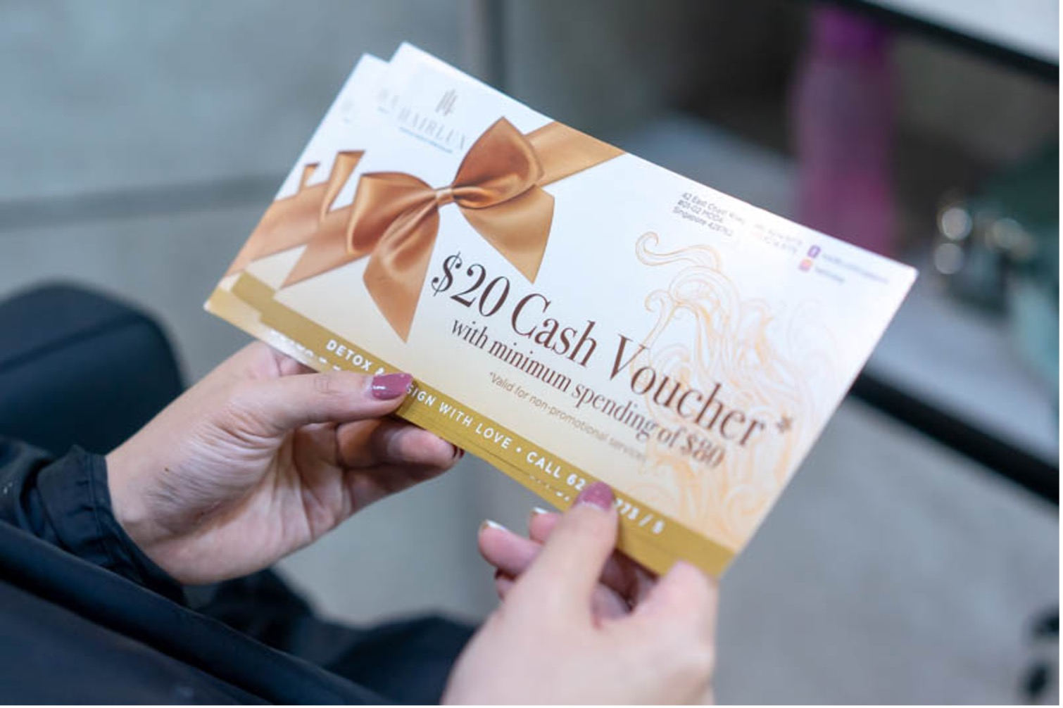 $20 Cash Voucher Gift From Hairlux