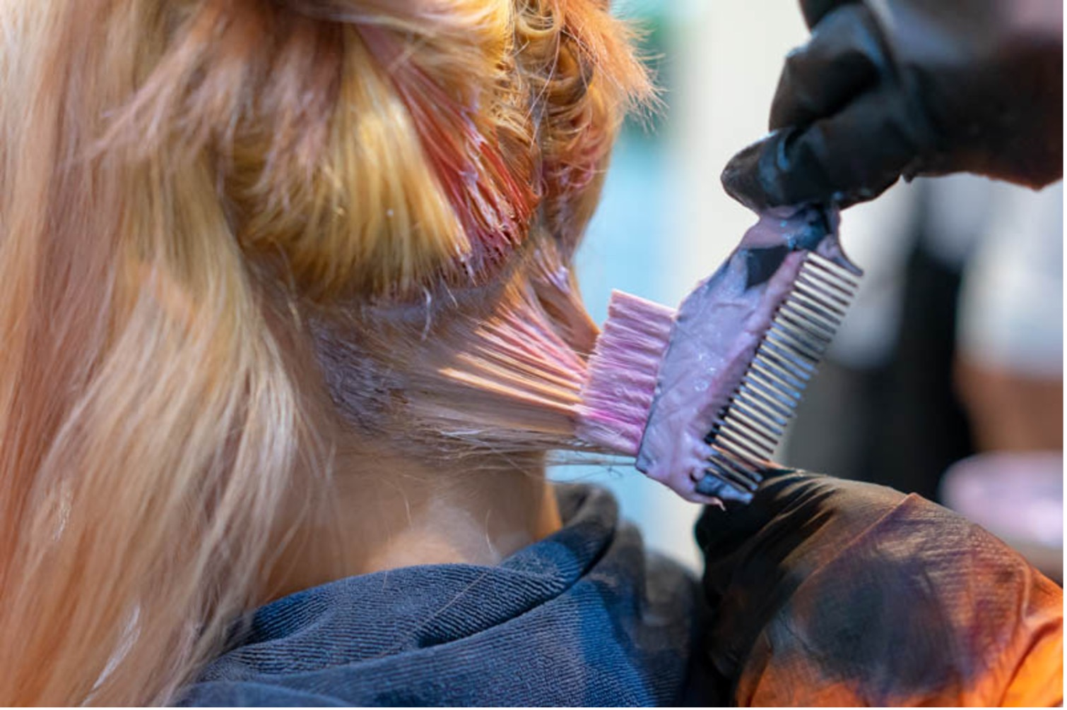 Pink Hair Dyeing at Hairlux