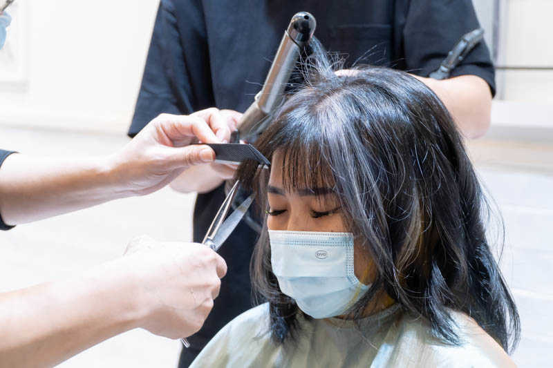 Trimming and Blow Dry by Ravissant Hair Salon