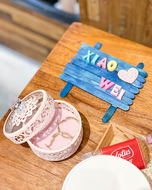 Customised Nameplate and Biscuits at Koinonia Salon