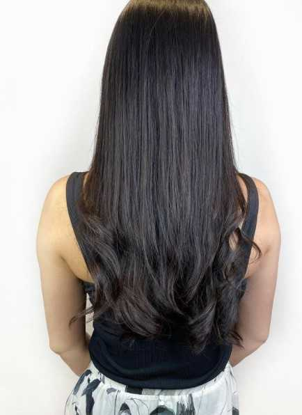 Volume Rebonding with Layered S Curl Perm for Long Black Hair at Do My Hair