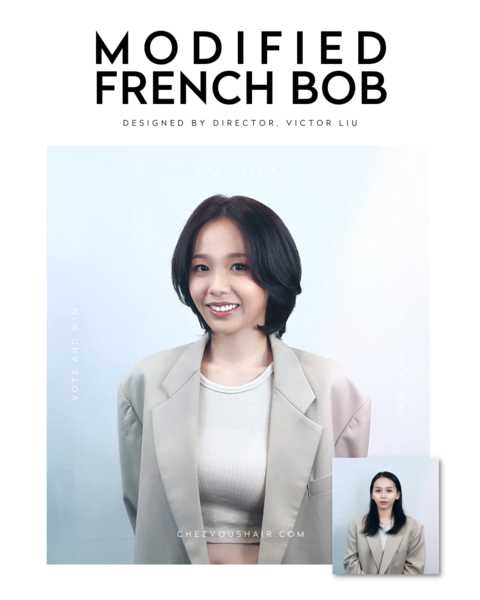 Short French Bob by Chez Vous