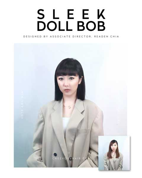 Sleek Doll Bob with Bangs by Chez Vous