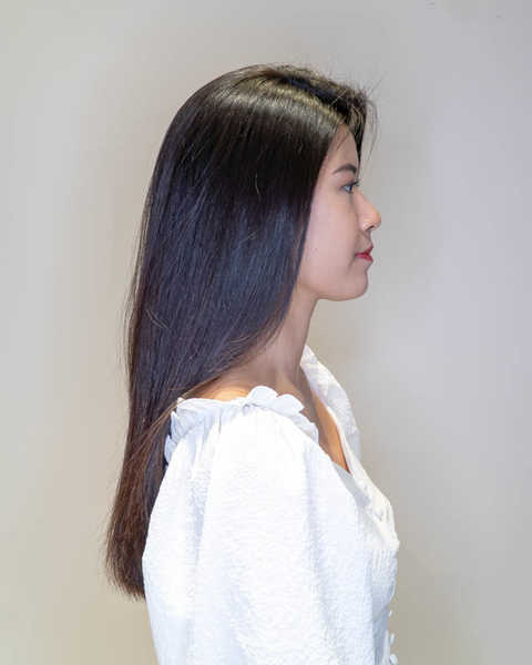 Glossy and Soft Hair After Enzyme Pro Hair Treatment at Branche Hair Salon