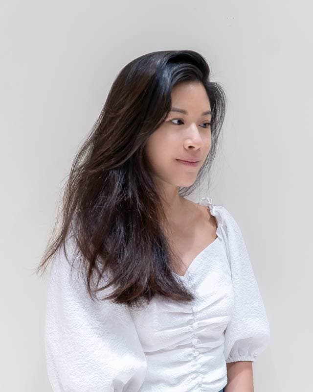 Dry, Frizzy and Stiff Hair Before Enzyme Pro Treatment at Branche Hair Salon