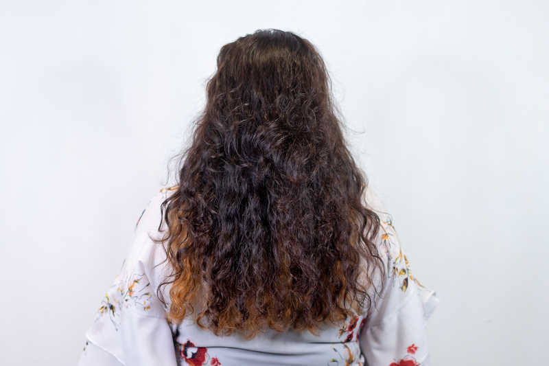 Frizzy Curly Hair