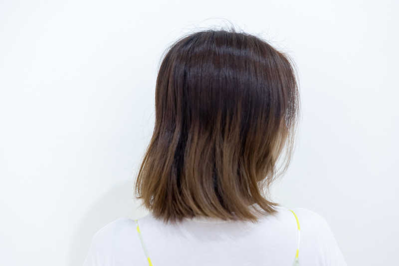 Before and After Bikami Head Spa at Whitetree Hair Salon
