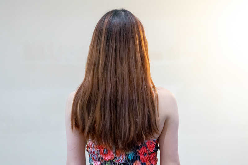 Damaged and Tangled Hair Before Advante Water Treatment at Room 49A Hair Salon