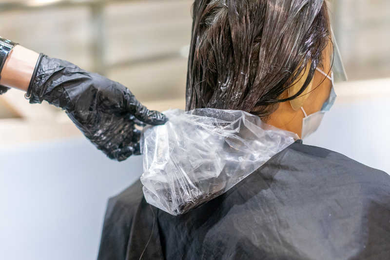 Application of Softening Lotion of BioStraight Hair Treatment at Do My Hair
