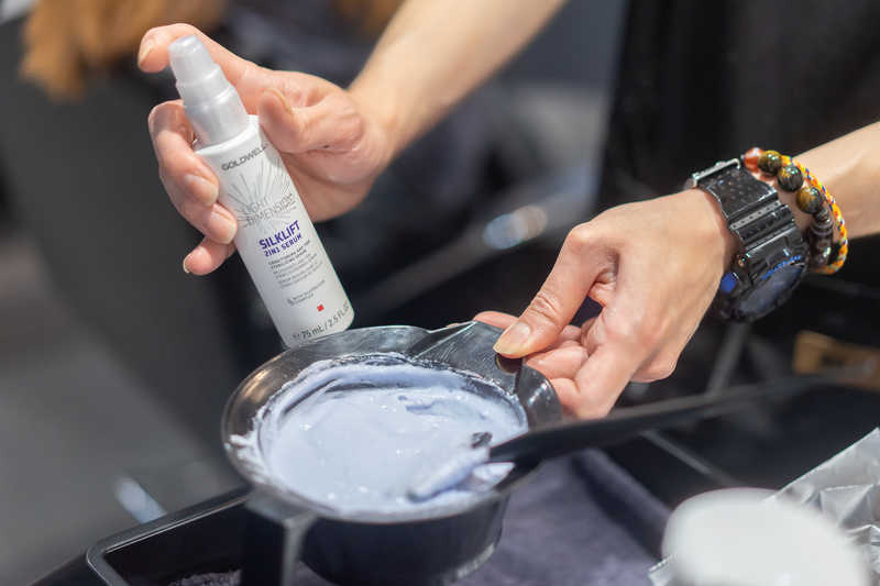 Bleaching Hair with Goldwell at Chez Vous Hair Salon